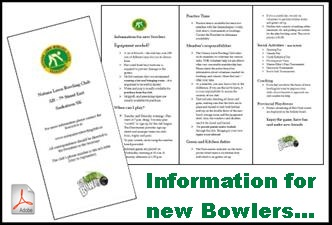 Information Brochure for new Bowlers